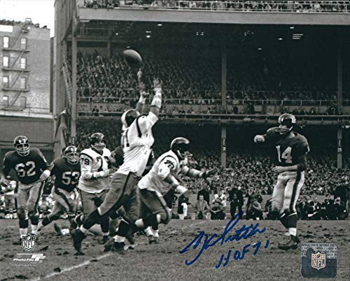 Autographed Y. A. Tittle HOF 8x10 New York Giants Photo ()