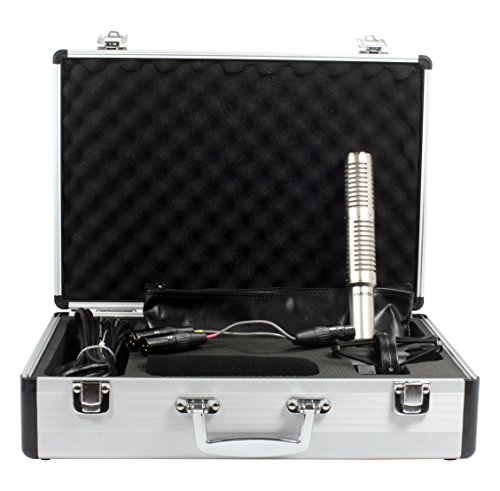 Cascade Microphones X-15 Stereo Mic Short Ribbon - Silver Body/Anodized Silver ()