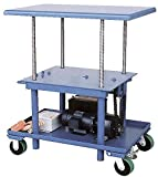 Vestil MT-2436-LP-DC Low Profile DC Power Post Table, 24'' x 36'', Blue