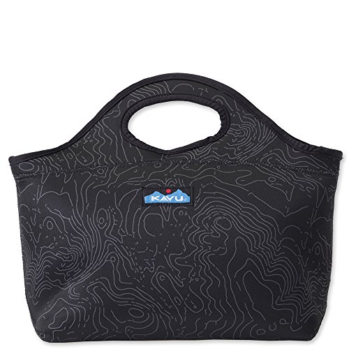KAVU Luncheon Bag, Black Topo, One Size