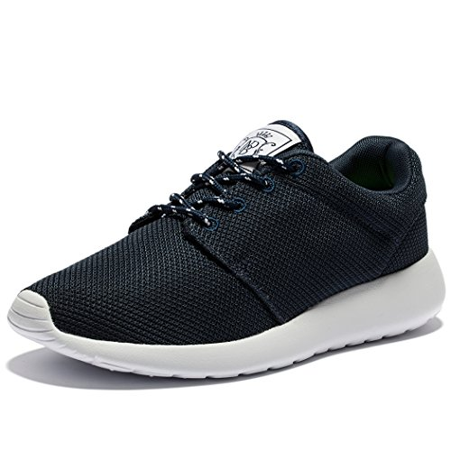WOTTE Womens Running Shoes Breathable Mesh Sport Training Shoes Lightweight Casual Walking Sneakers Dark Blue HVY6ZbWl4z