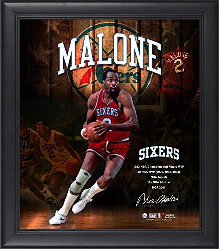 Composite Core - Moses Malone Philadelphia 76ers Framed15