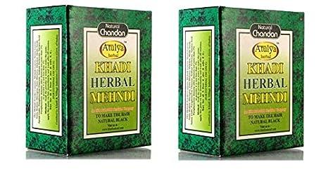 897ec280ceb52 Image Unavailable. Image not available for. Colour: Khadi Natural Sudha  Ayurveda Herbal Black Mehndi ...