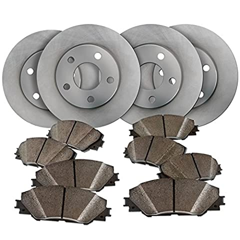 Maxim Brakes Direct Front and Rear Low Dust Ceramic Pads and Premium Quiet technology Brake Rotors - Brake Pads Express Van