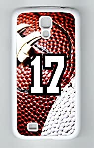 Football Sports Fan Player Number 17 White Rubber Decorative Samsung Galaxy S4 Case