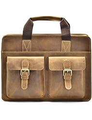 Hølssen Satchel Briefcase Messenger 13 Laptop Genuine Leather Bag …