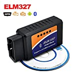 Bluetooth Car Diagnostic Scan Tool Automotive Check Engine Light Code Scanner ELM327 OBD2/OBD-II Code Reader Compatible with Android and Windows Adapter