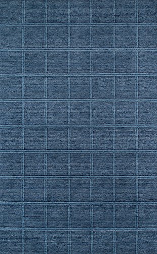 Momeni Rugs Gramercy Collection, 100 Wool Hand Loomed Contemporary Area Rug, 3 6 x 5 6 , Denim