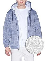 Oscar Mens Polar Fleece Jacket High Performance Sherpa Full Zip Sportswear