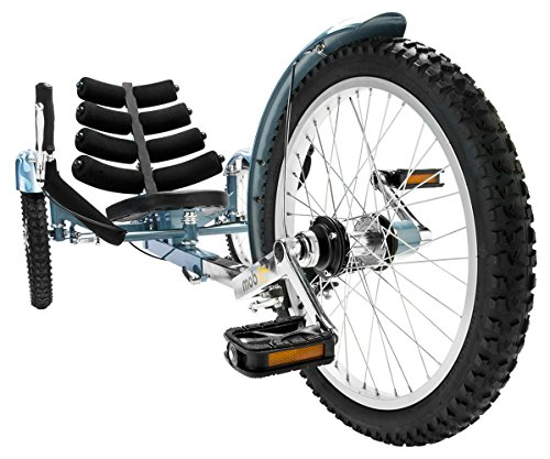 Mobo Shift 3-Wheel Recumbent Bicycle Trike. Reversible Adult Tricycle Bike, blue