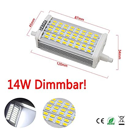 14 W SMD de intensidad regulable R7s LED bombilla de 118 de barra de pie de