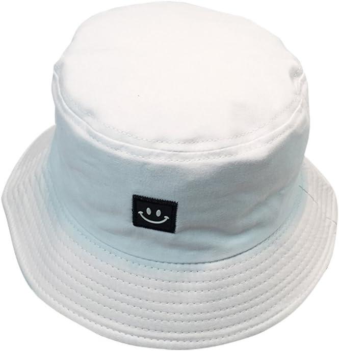byou Sombrero Pescador,Sombrero de Pescador Tela de algodón y Poliéster Unisex Aire Libre Sombrero de ala Ancha Borde Redondo para Excursionismo Cámping De Viaje Pescar 56-58cm