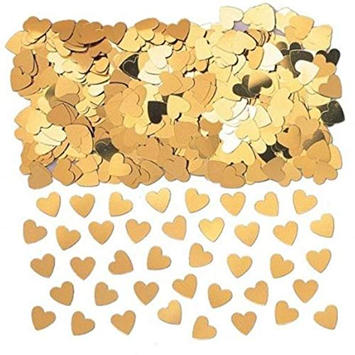 Gold Hearts Wedding Heart Confetti Table Decorations sprinkles (Balloons Send Same Day)