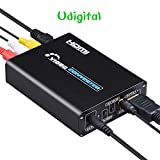 coaxial cable to hdmi modulator - RCA Svideo to HDMI converter adapter,Udigital 3RCA AV CVBS Composite & S-Video R/L Audio to HDMI Converter Adapter Upscaler Support 720P/1080P with 3RCA S-Video Cable for DVD VCR PS2 PS3 Xbox HDTV