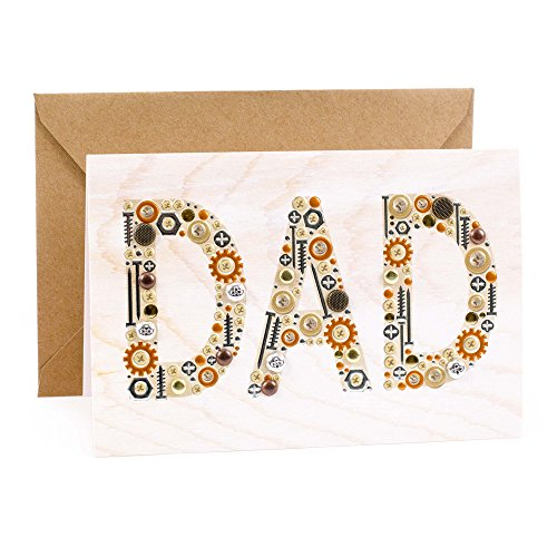 Hallmark Signature Wood Birthday Card for Dad (Nuts and Bolts) -