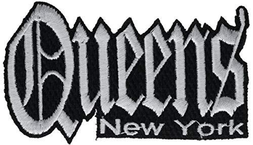 - Queens New York Graffiti Script 4.5 inch hat Cap Shirt Pride Patch PPMQnsslvr
