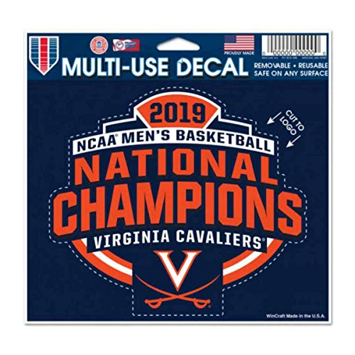 WinCraft Virginia Cavaliers 2019 NCAA Basketball National Champions Multi-Use Decal