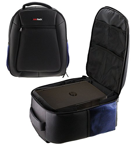 Navitech Rugged Black Carry Backpack/Rucksack/Case Compatible with TheOptoma W305ST 44.6-223.2-Inch Data Projector