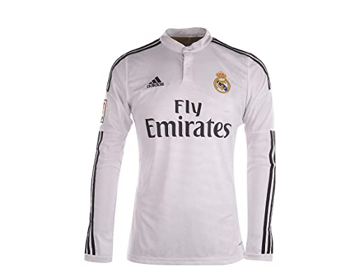new style 96352 c61e3 Amazon.com: adidas Real Madrid Home Jersey Long Sleeve 2014 ...