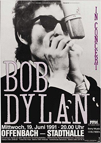 XXXL Poster 20 x 30 [Bob Dylan Offenbach Germany Concert Poster (1991)