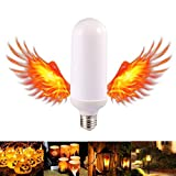 Ralbay E26 Standard Base 3 Modes Flame Fire Up Bulb LED Flame Effect Light Bulbs Fire Flickering Bulb for Christmas Outdoor Garden Hotel Bars Coffee Shop Home Decoration(Pack of 1pc)