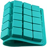 JoyGlobal Silicone 40 Cavity Square Shaped Baking Ice Resin Clay Fondant Chocolate Mini Hotel Soap DIY Mold (Output Weight : Approx 13-14 Grams)