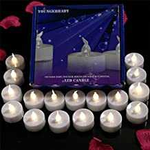 24pcs Flameless Candles Yellow Flickering LED Tealights With Timer, 6 Hours On and 18 Hours Off in 24 Hour Cycle, Battery Candles Operated for Wedding, Birthday, Party Decorations
