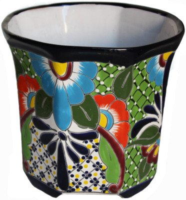 Talavera Planter Ceramic (Fine Crafts Imports Sevina Talavera Mexican Ceramic Pot)