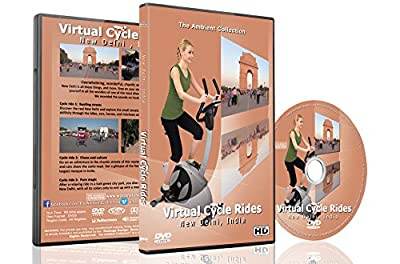 Virtual Cycle Rides - New Delhi, India for Indoor Cycling Treadmill and Running Workouts