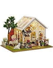 Het bouwen van speelgoed DIY Cottage Dollhouse Miniature met meubels DIY Houten DollHouse Kit 1:24 Schaal Creative Room Idea Valentijnsdag Present (Sunshine Flower Room) for de mensen boven de 14 jaar