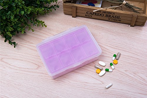 IFY Double-deck 8 Grid Pill Box Pill Medicine Tablet Hold...