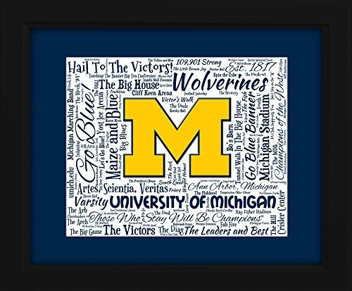 university-of-michigan-16x20-art-piece-beautifully-matted-and-framed-behind-glass