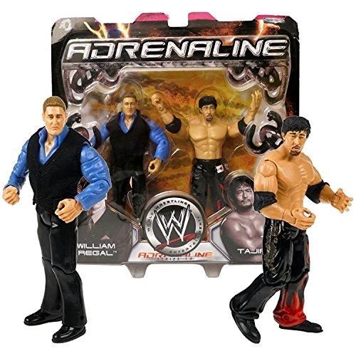 (Jakks Pacific Year 2005 World Wrestling Entertainment WWE Adrenaline Series 2 Pack 7 Inch Tall Figure - WILLIAM REGAL and TAJIRI)