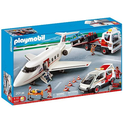 (Playmobil 4 Vehicle Set - Airplane, Tow Truck, SUV and Road Service Van - 201 Pieces)