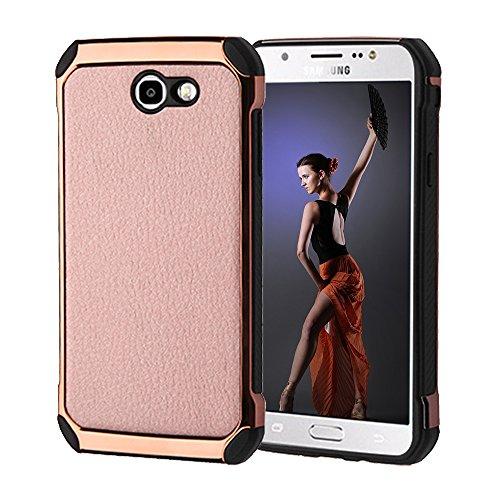 Slim Fit Hybrid Case for Samsung J7 (Grey/Red) - 9
