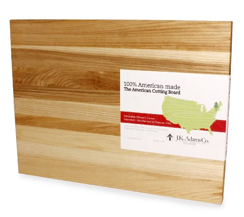 Jk Adams Knife Block - J.K. Adams Ash Wood American Collection Cutting Board, 20-inches by 15-inches