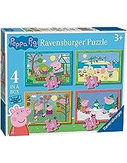 Ravensburger Peppa Big: 4 seizoenen 4in1box puzzel - 12+16+20+24 stukjes - kinderpuzzel