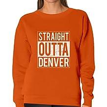TeeStars - Straight Outta Denver - Best Gift for Football Fans Women Sweatshirt