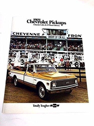 1971 Chevrolet Pickup Truck Original Sales Brochure Catalog - Silverado Cheyenne (Silverado Sales Brochure)