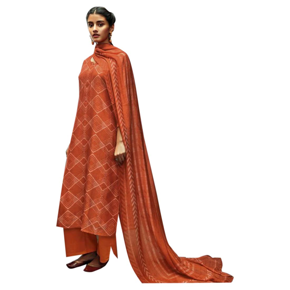 Bollywood style Pure Silk Straight Salwar suit with Printed Dupatta for Women Indian Designer Formal Party wear 7703