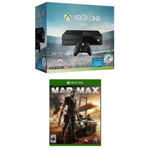 Xbox One 1TB Console - Madden NFL 16 Bundle + Mad Max