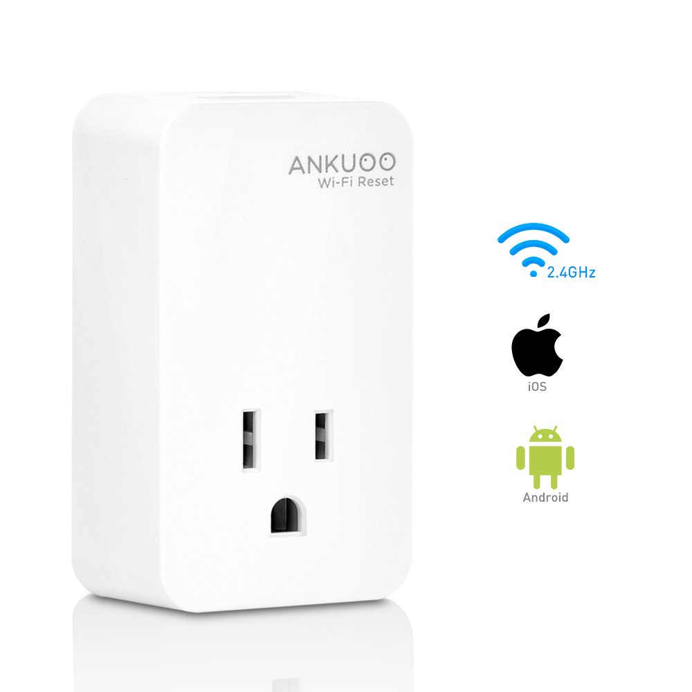Ankuoo REC Wi-Fi Reset/Restarter Monitor Router/Modem/AP Power If WiFi Fails, 1.75 x 3 x 2.25 inch, White