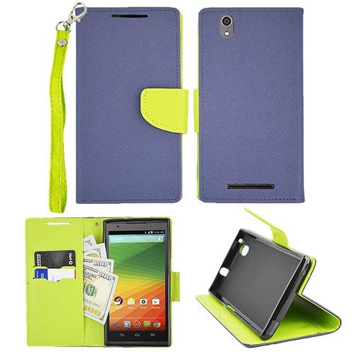 Walmart Family Mobile ZTE ZMAX Z970 Preimum Wallet Pouch Cover Case
