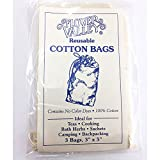 Flower Valley Reusable Cotton Bags, 3 Count
