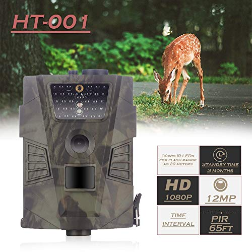 MC.PIG Outdoor Game Hunting Cameras 1080P Day and Night Infrared Sensor Waterproof and dustproof Hunting Game Camera for Home Security Wildlife Hunting/Monitoring