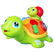Coolecool Parent-child Turtle Musical Light Up Interactive Baby Crawling Toys 6 to 12 Months Infant Educational Learning Developmental Electronic Activity Toys for Toddlers (Multicolored)