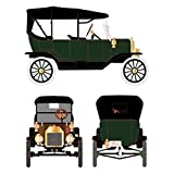 1915 Ford Model T Touring Soft Top Green 1/18 by Motorcity Classics 88132