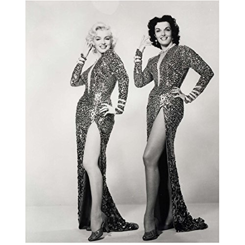Marilyn Monroe and Jane Russell Looking Good in Dresses 8 x 10 Inch Photo (Marilyn Monroe The Prince And The Showgirl Dress)