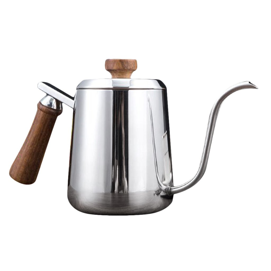 Homyl Pour Over Tea Kettle Gooseneck Coffee Drip Kettle BPA Free Water Kettle Tea Pot Stainless Steel Water Pot - Silver, 350ml
