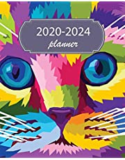 2020-2024 Planner: 5 Year Monthly Weekly Planner Calendar Schedule Organizer 60 Months With Holidays and Inspirational Quotes ( Colorful Cat Pop Art Purple )